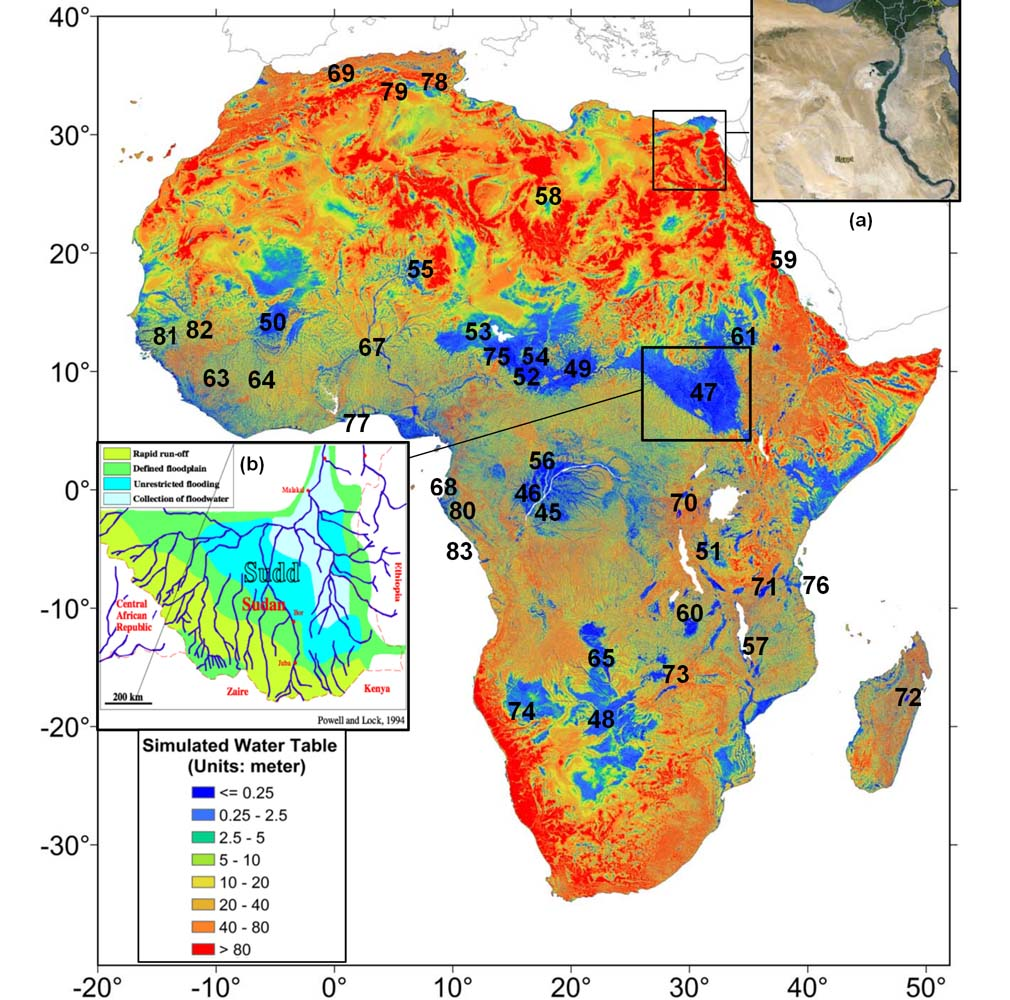 Global Groundwater Depth