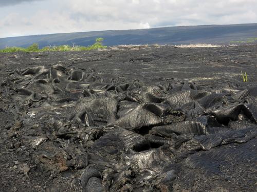 Pahoehoe lava from the Big Island of Hawaii. (Credit: Mila Zinkova)