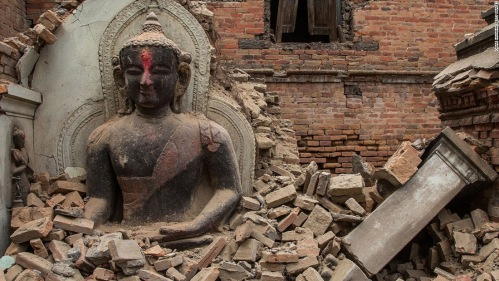 Damage in Kathmandu, Nepal, after the Gorkha earthquake in May 2015 (Credit: CNN)